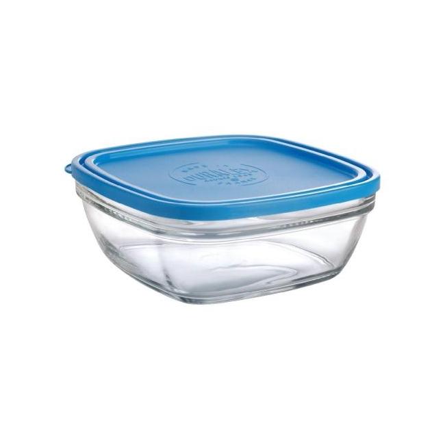 Klaasist toidukarp kaanega 15 cm