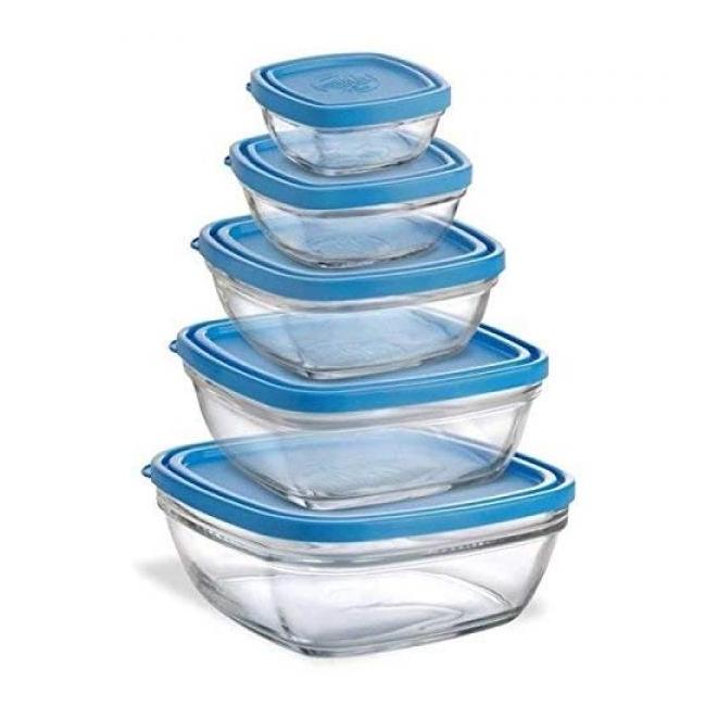 Klaasist toidukarpide komplekt (5-osaline)