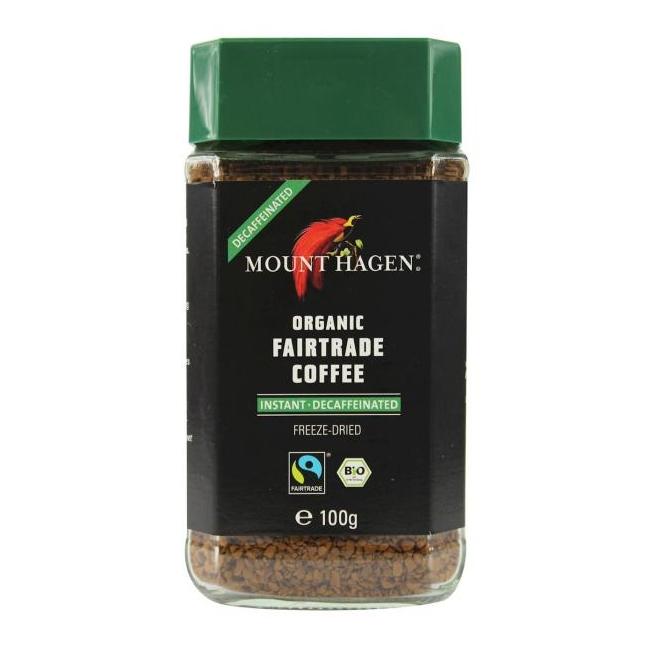 Mahe lahustuv kohv, kofeiinivaba,  100g (Mount Hagen)