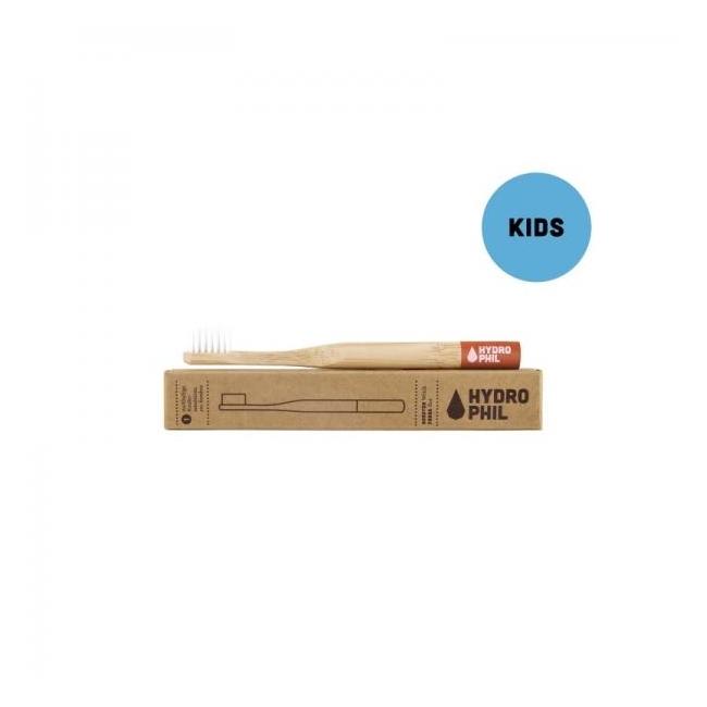 Laste hambahari Hydrophil bambusest, punane / extra soft)