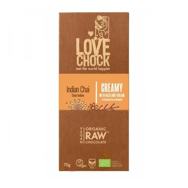 Tooršokolaad pähklikreemi ja chai vürtsidega, mahe, 70g