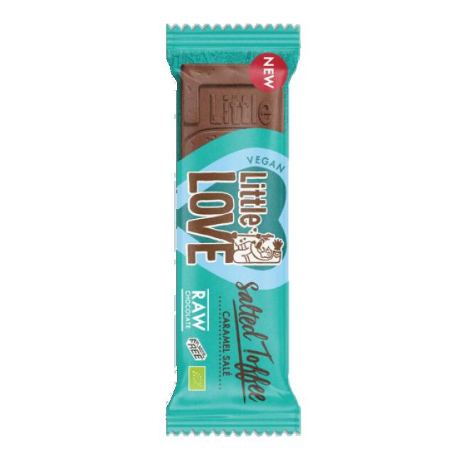Tooršokolaad Little Love, soolatud karamell, mahe, 25g