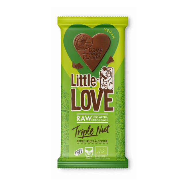 """Tooršokolaad Little Love """"3 pähklit"""", mahe, 65g"""