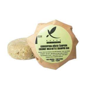 Kookospiima - nõgese tahke šampoon (täitepakend), 86-89g