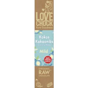 Tooršokolaad kookose ja kakaooa tükikestega, mahe, 40g