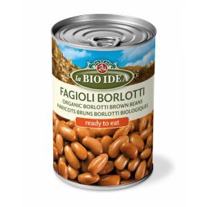 Pruunid oad (Borlotti), konserveeritud, mahe, 400g