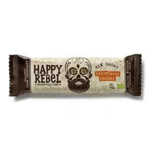 Šokolaad Happy Rebel, mahe, 38g (pekaanipähklite, maca ja kirssidega)