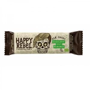 Šokolaad Happy Rebel, mahe, 38g (sarapuupähklite, goji marjade ja moringaga)