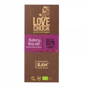 Tooršokolaad mustikate ja kanepiseemnetega, mahe, 70g