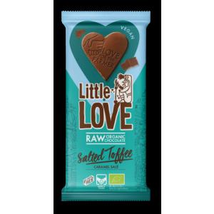 Tooršokolaad Little Love, soolatud karamell, mahe, 65g